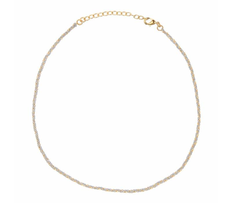 Rani necklace Grey Gold