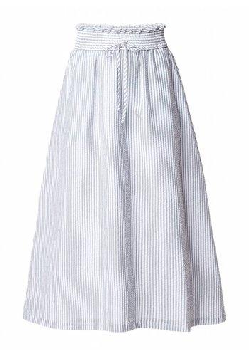 Another Label Skirt Knapp Oil Green Stripe