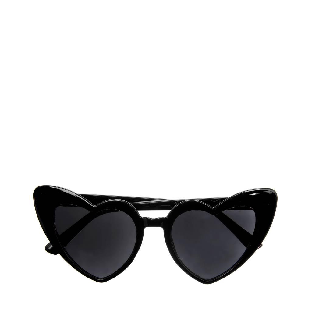 Heather Heart Sunglasses Black