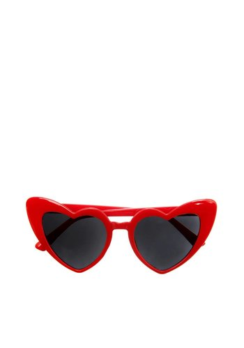 Les Soeurs Heather Heart Sunglasses Red
