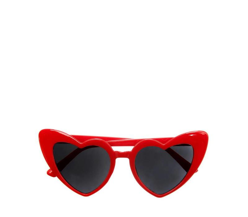 Heather Heart Sunglasses Red