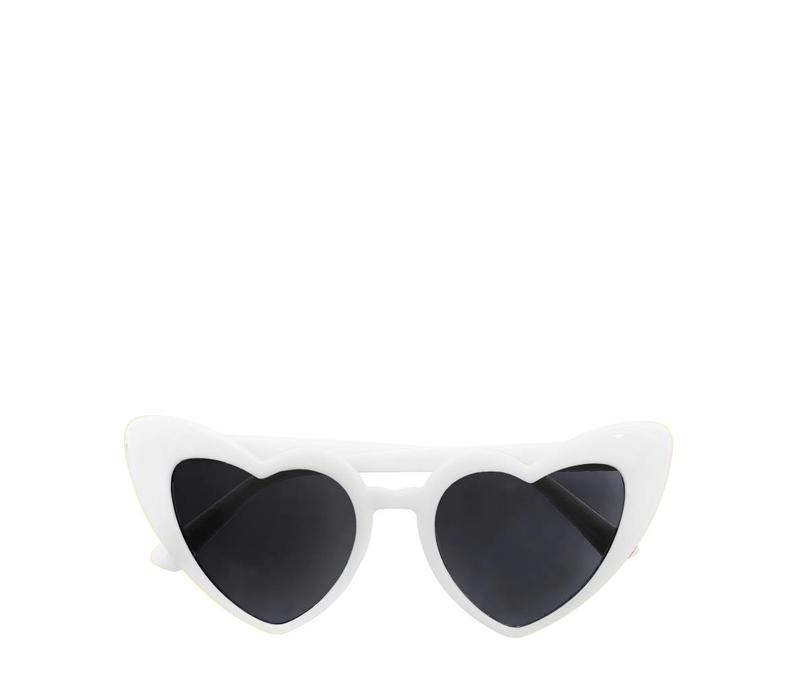 Heather Heart Sunglasses White