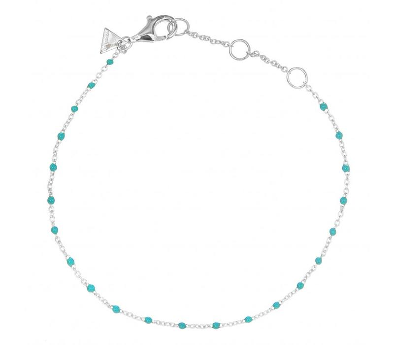 Hugo Dots Turquoise Silver