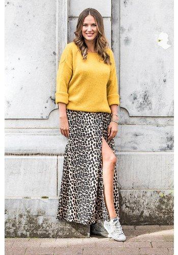 Sracey Long Dress Leopard