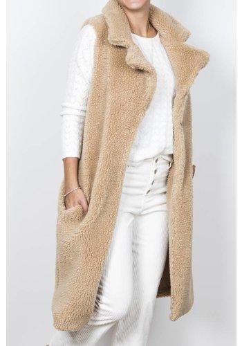 Sleeveless Teddy Coat