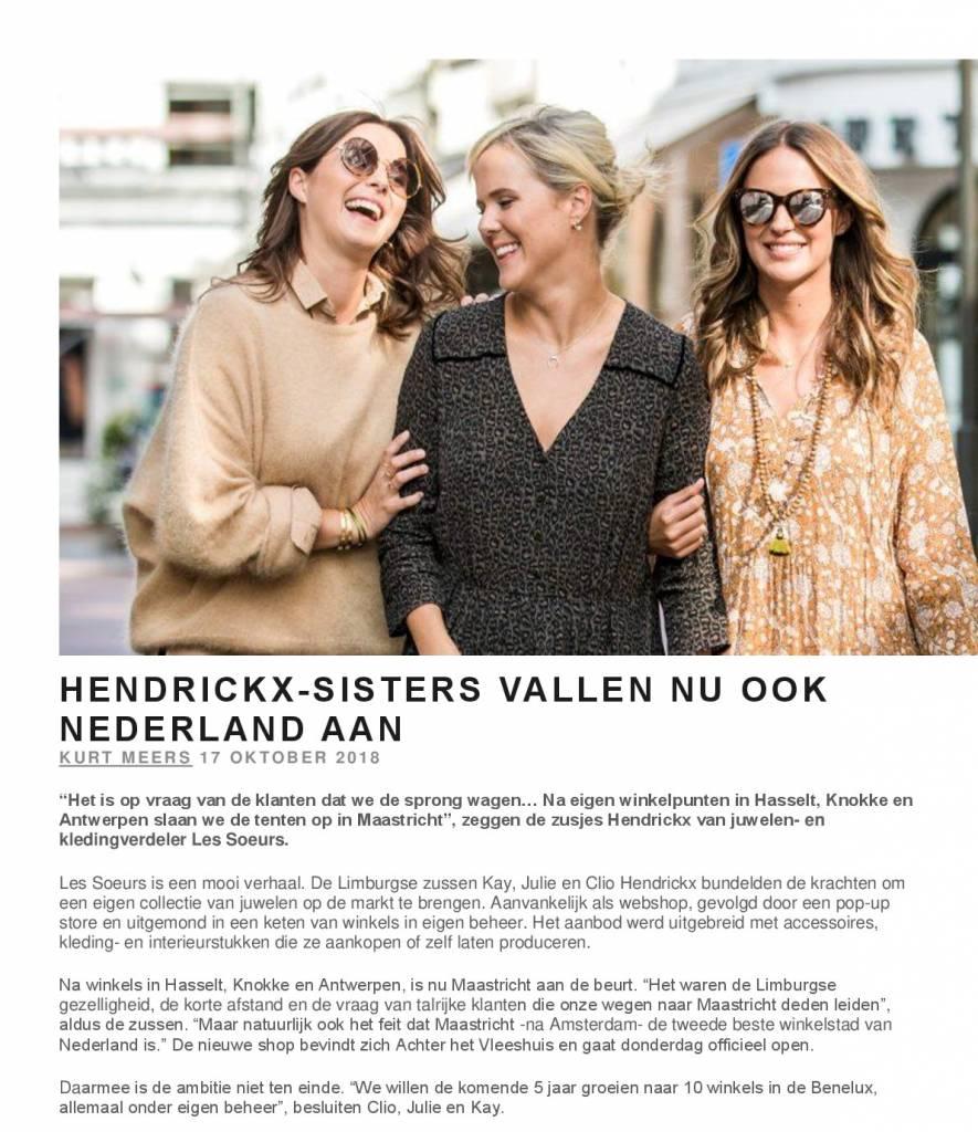 Hendrickx-sisters vallen nu ook Nederland aan