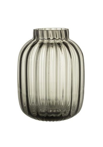 Bloomingville Vase Grey Glass