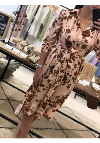 Vicolo Shirt Dress Pink Flowers