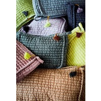 Quilted Linen Clutch