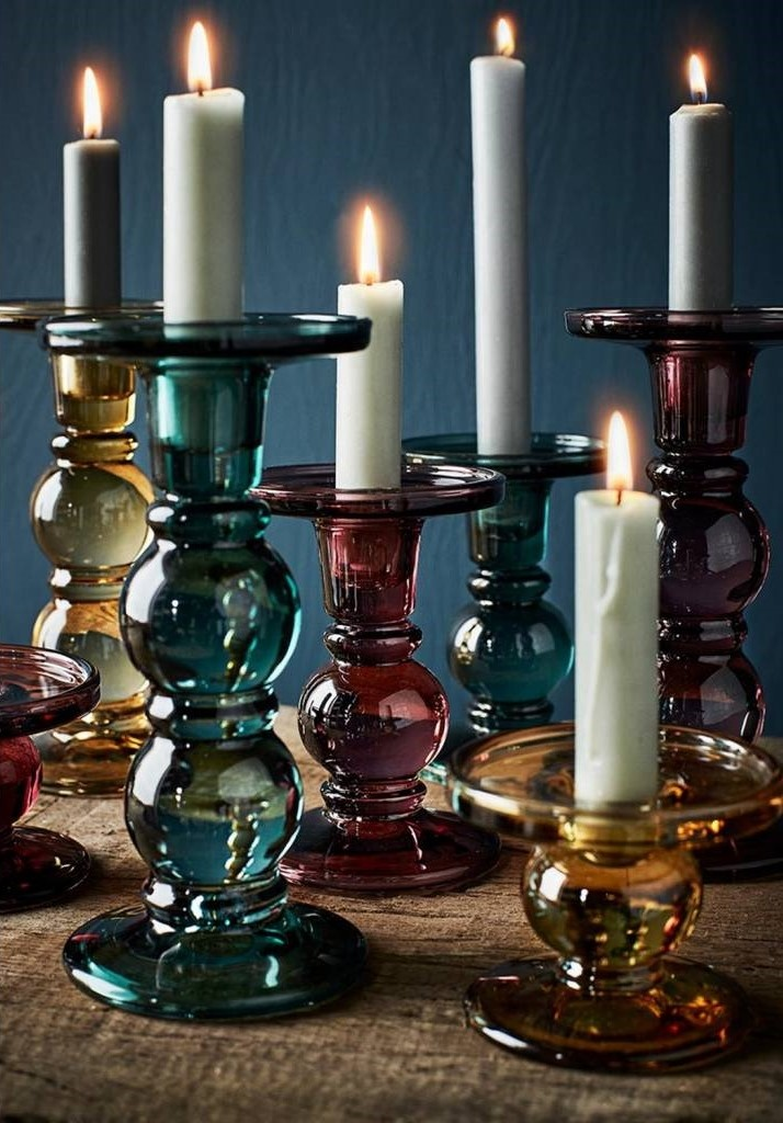 Glass Candle Holder