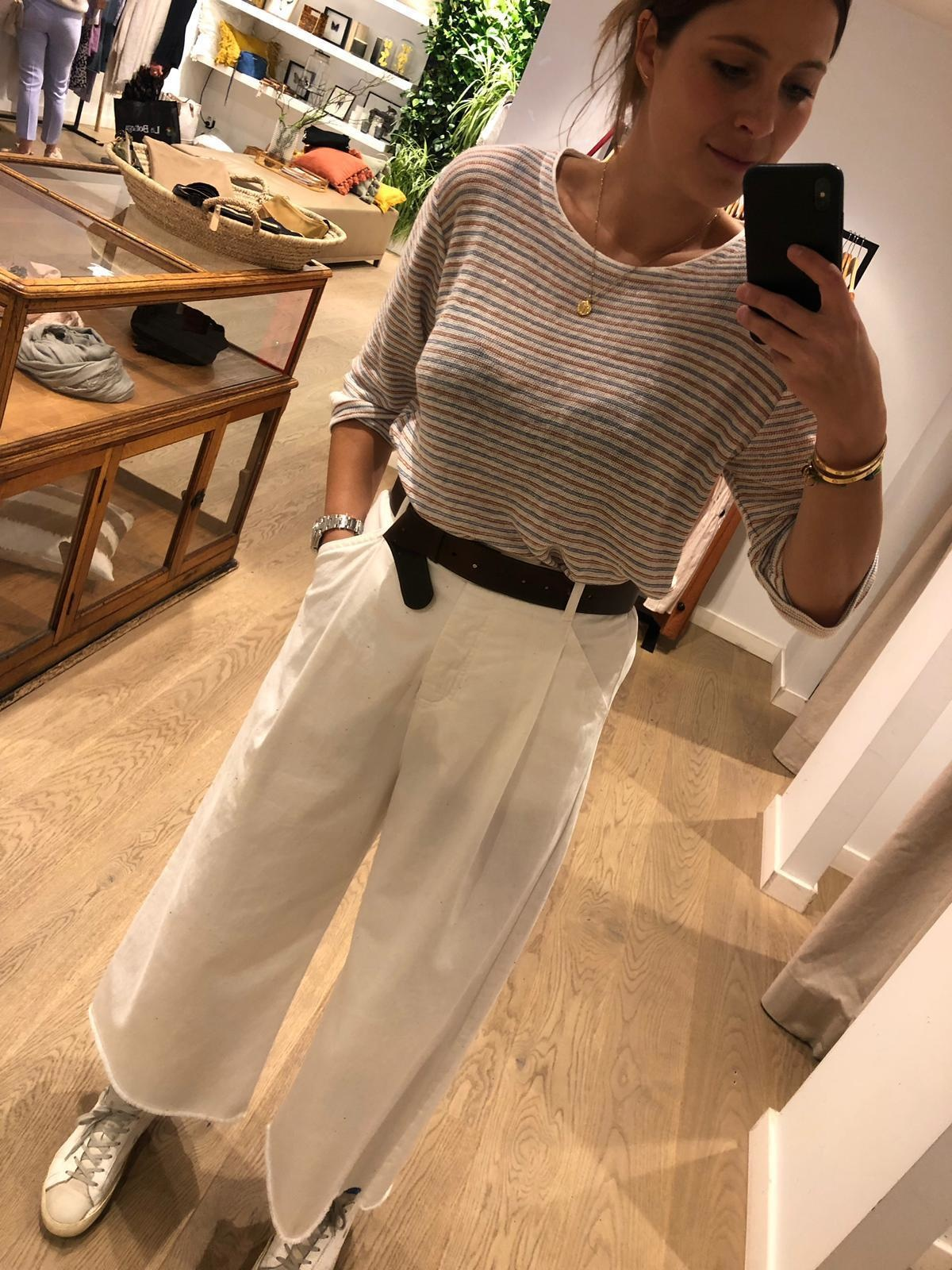 Wide  White Trousers