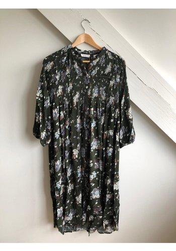 Senes Dress Dark Green/Multi Flowers