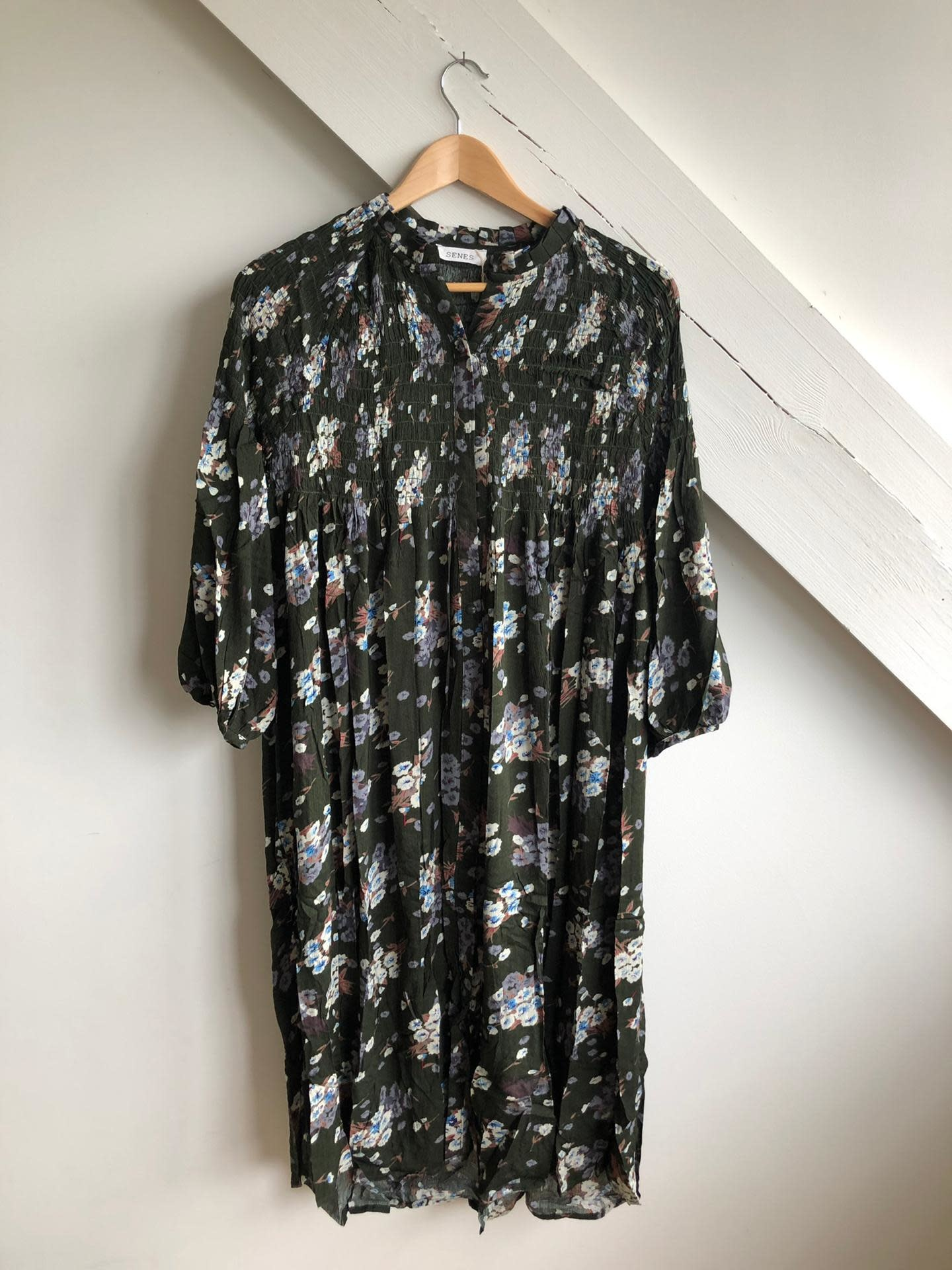 Dress Dark Green/Multi Flowers