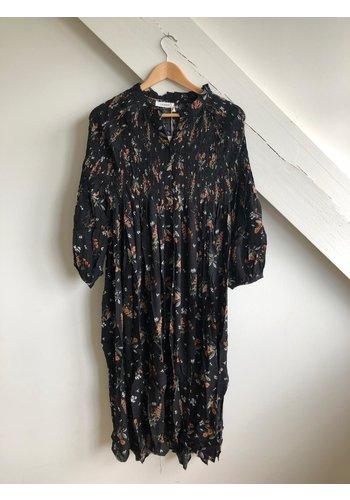 Senes Dress Flowers Black/Multi Flowers