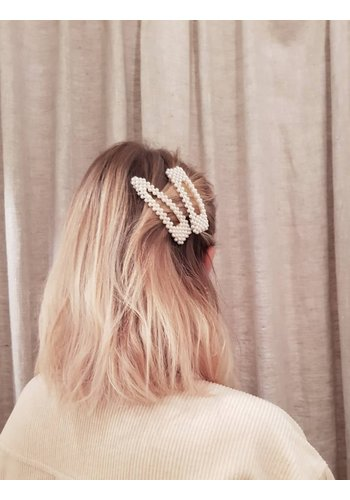 Hair Clip Pearl
