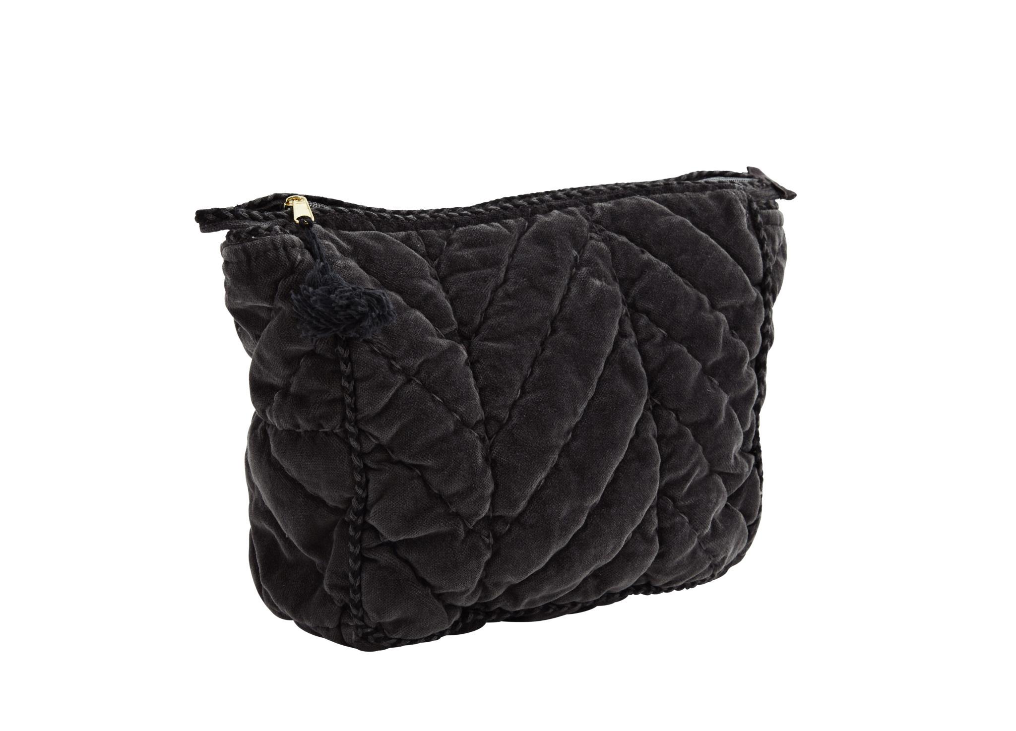 Quilted Velvet Toilet Bag