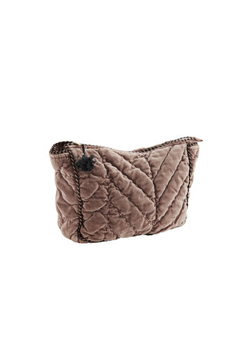 Madam Stoltz Quilted Velvet Toilet Bag