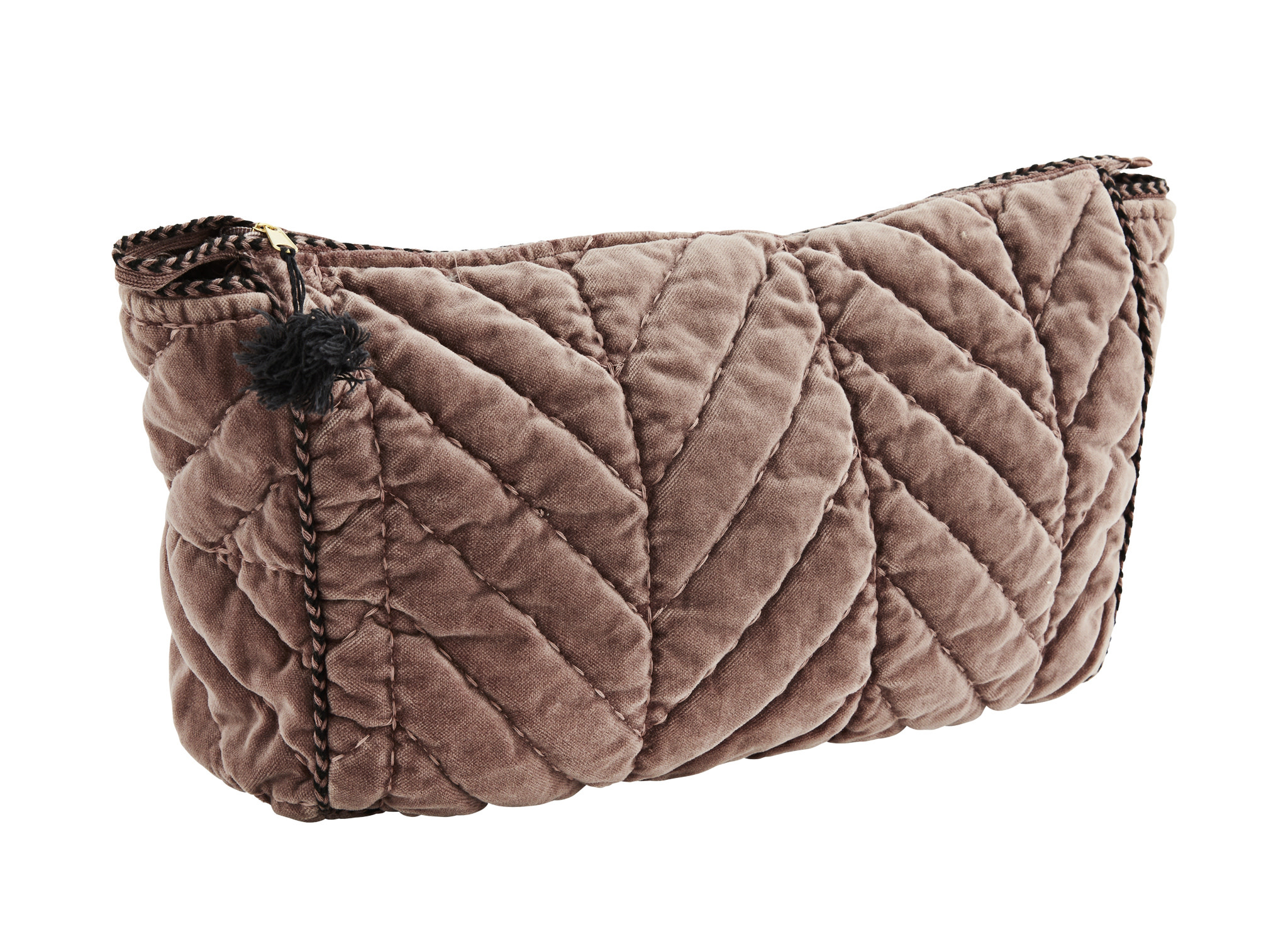Quilted Velvet Toilet Bag