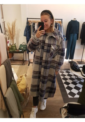 Senes Checked Coat
