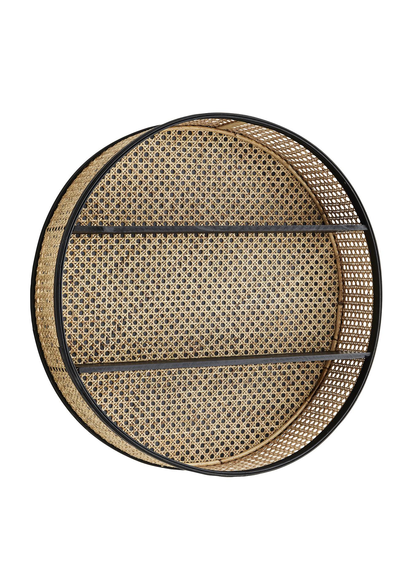 Round Rattan Shelf