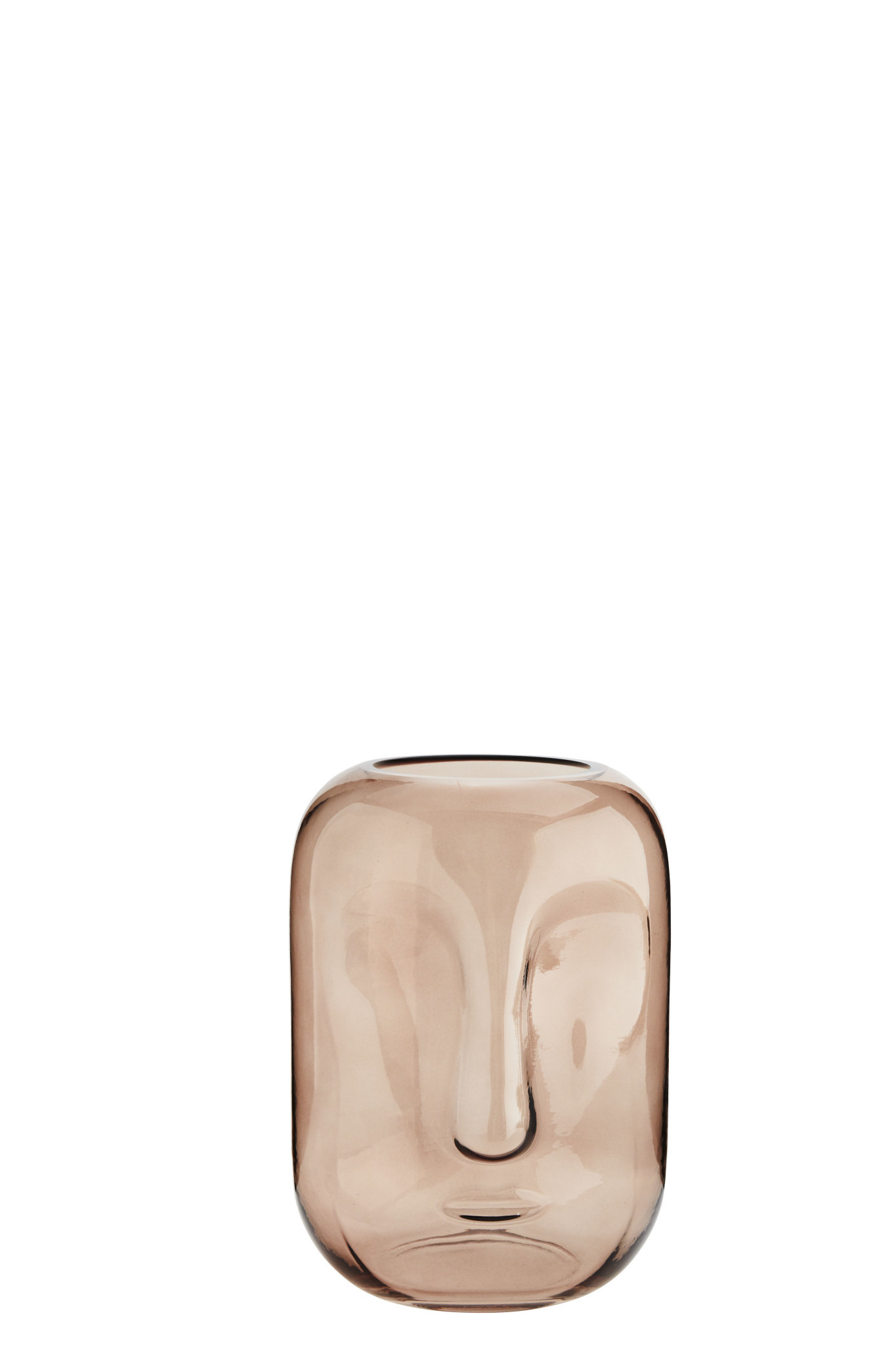 Glass Vase With Face