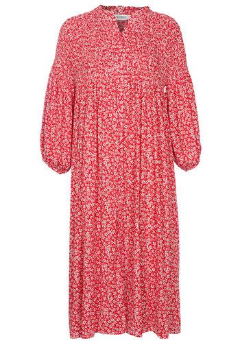 Senes Dress Flowers Red
