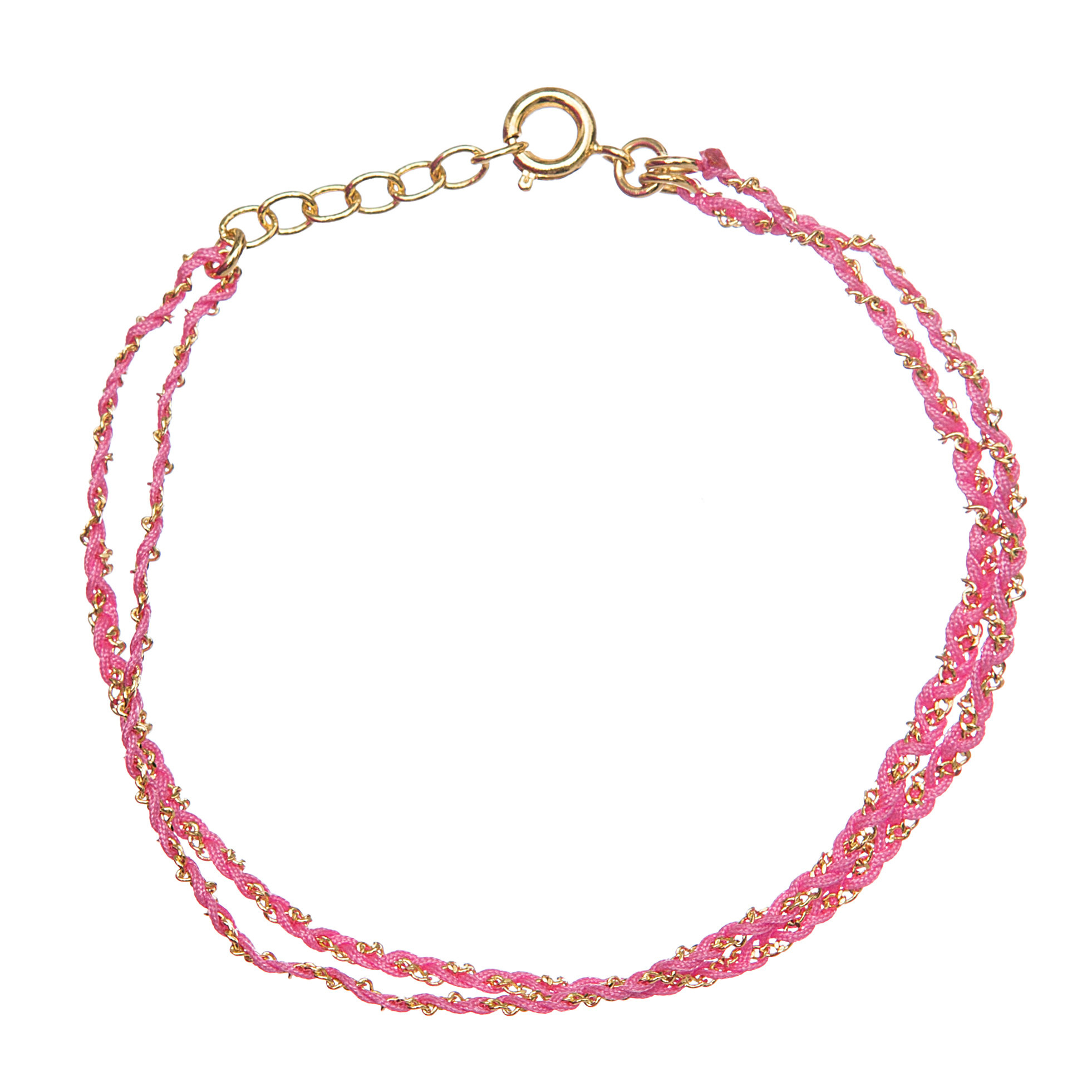 Rina Double Bracelet Dark Pink Gold