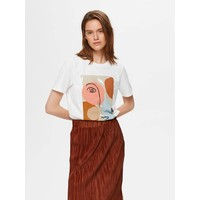 Abstract Face Tee White