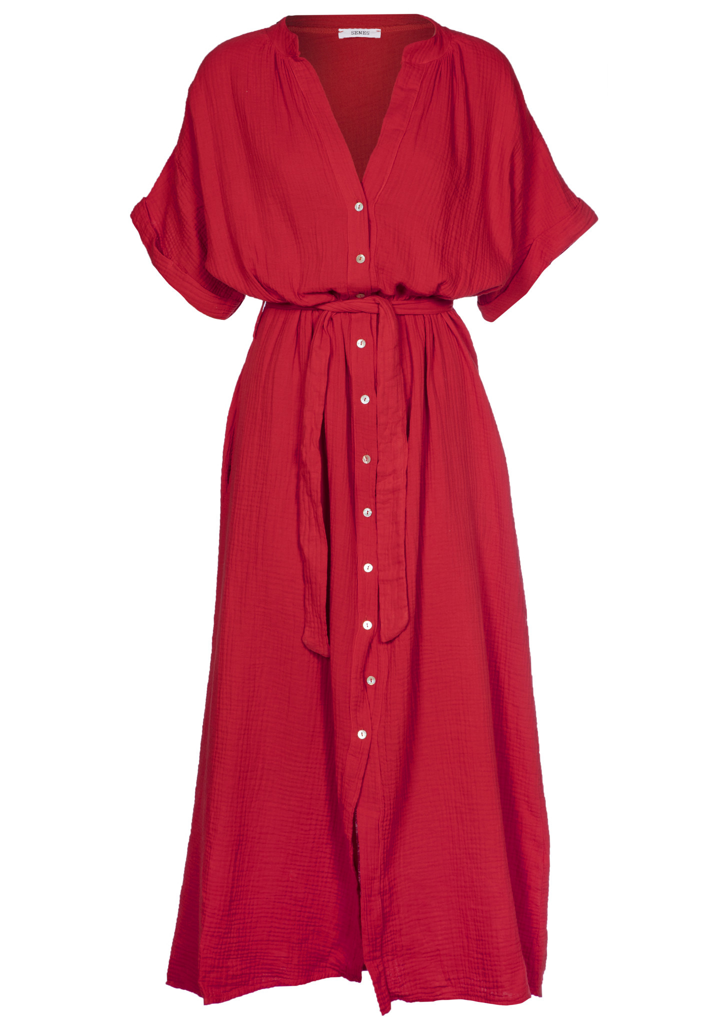 Brigitte Tetra Dress Red
