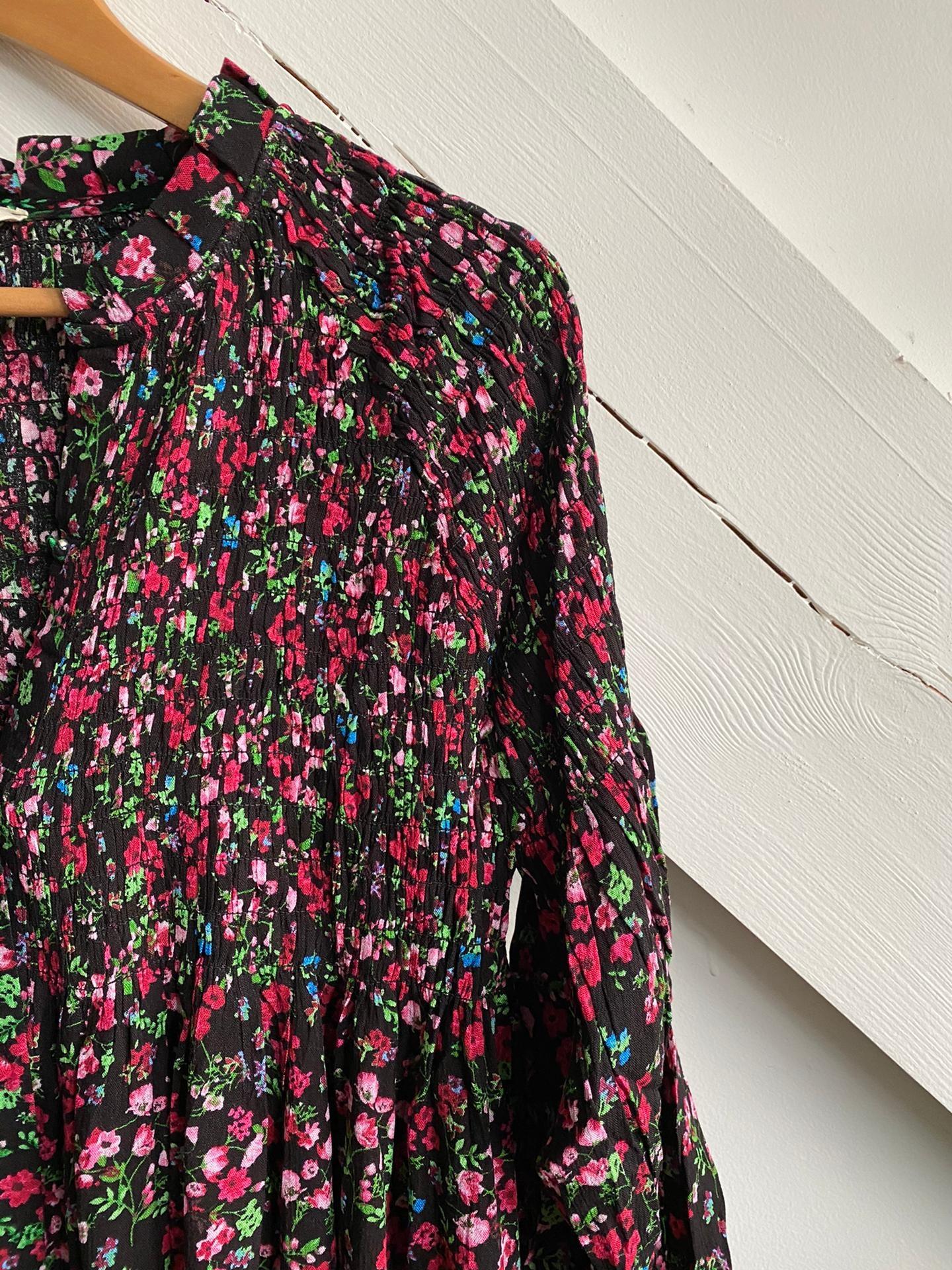 Dress Flowers Black/Pink