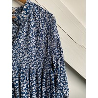 Dress Flowers Navy