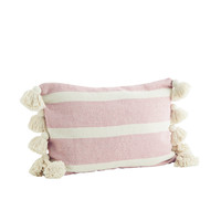 Striped Cushion With Tassels