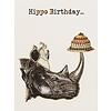 Vanillafly Greeting Card Happy Hippo Birthday