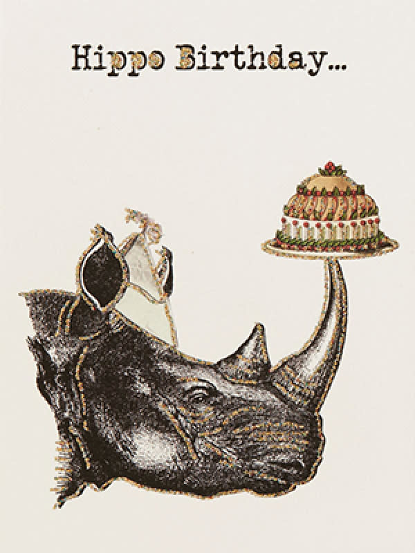 Greeting Card Happy Hippo Birthday