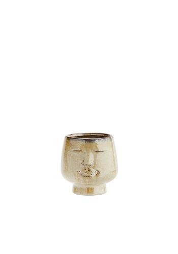 Madam Stoltz Flower Pot With Face Imprint