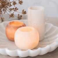 Alabaster Candle Holder