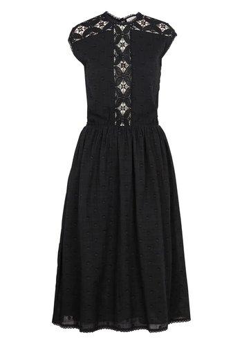 Swildens Bergen Black Jacquard Coton Dress