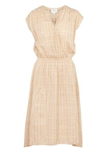 Swildens Brandy Checked Dress Beige