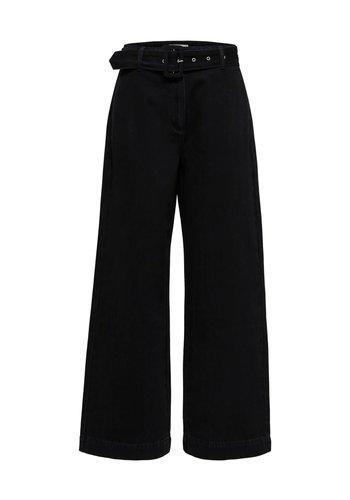 Selected Willow HW Black Denim Pant