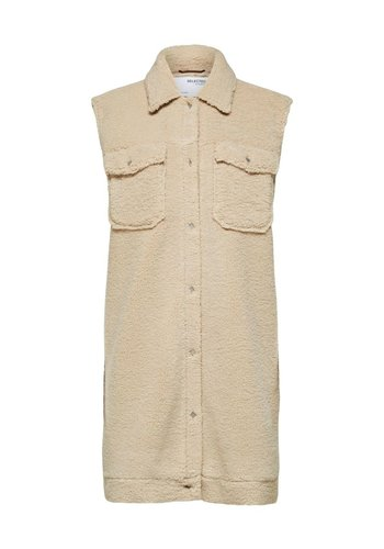Selected Long Vest Jany Teddy