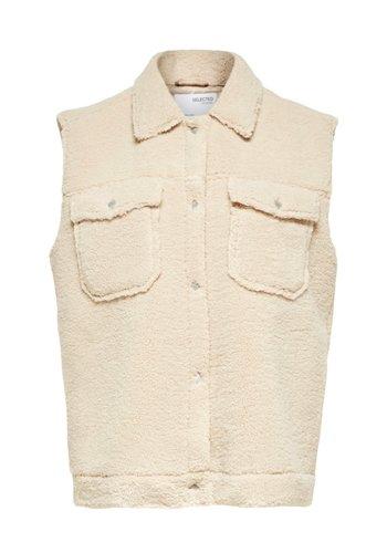 Selected Short Vest Jany Teddy