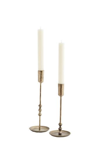 Madam Stoltz Madam Stoltz Hand Forged Candle Holders Set