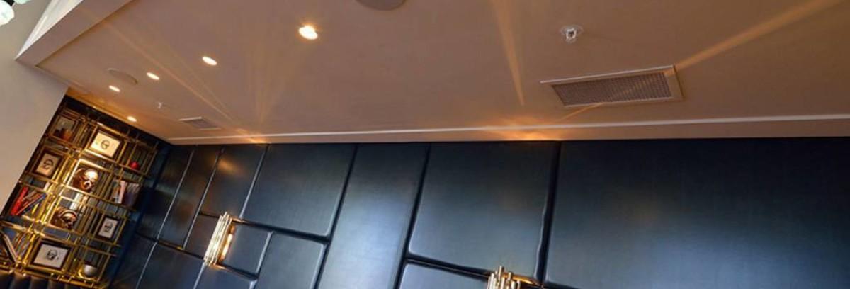 Plaatsing van inbouwspeakers in het plafond