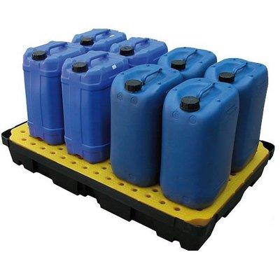 Kunststof lekbak 1200x800x175mm met rooster - 100 liter inhoud