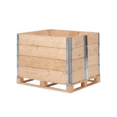 Nieuwe houten palletrand 1200x800mm - 6 scharnieren