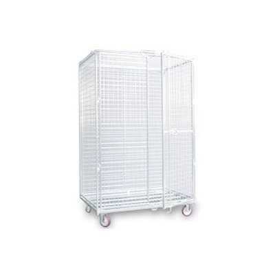 Antidiefstal rolcontainer 1200x800x1870mm - draadgitter bodem