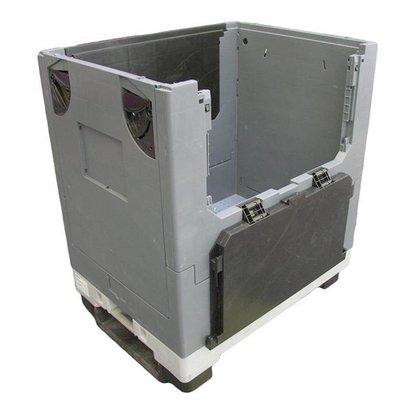 Plastic pallet en palletbox in 800x600x910mm - met wielen