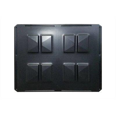 Rotom Kunststof deksel 1220x1020x4 mm - voor opzetranden