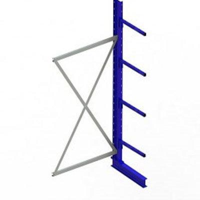 Rotom Aanbouwstelling 1000x500x2500mm incl. 4 draagarmen - gelakt RAL 5010