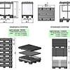 Inklapbare kunststof palletbox 1220x820x928mm